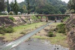 Opinião do parque na represa de Neyyar foto de stock royalty free