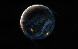Opinião do planeta ilustração stock