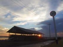 Opinião do por do sol Foto de Stock Royalty Free