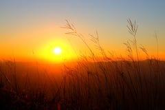 Opinião do por do sol Fotos de Stock