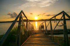 Opinião do por do sol Imagem de Stock Royalty Free