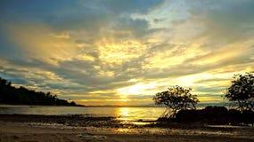 Opinião do por do sol de HDR Foto de Stock Royalty Free