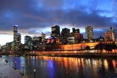 Opinião do por do sol de Melbourne Imagens de Stock Royalty Free