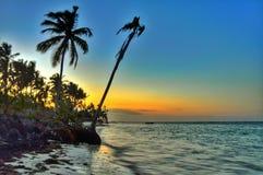 Opinião do por do sol de Oceano Atlântico Imagens de Stock Royalty Free