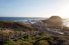 Opinião do por do sol de Phillip Island foto de stock