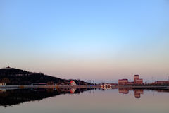Opinião do por do sol do parque em Tianjin, China Imagem de Stock Royalty Free