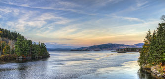 Opinião do por do sol do rio Foto de Stock