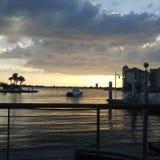 Opinião do por do sol do sudoeste de FLorida, praias imagem de stock