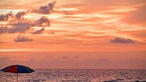 Opinião do por do sol do sudoeste de FLorida, praias foto de stock