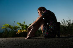 Opinião do por do sol do verão Imagens de Stock