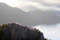 Opinião do por do sol no pico Imagens de Stock Royalty Free