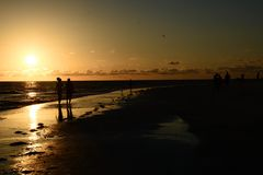 Opinião do por do sol Imagens de Stock Royalty Free