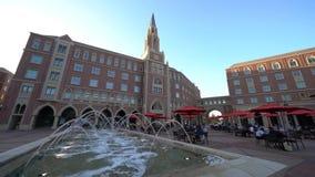 A opinião do por do sol o McCarthy bonito honra a faculdade residencial da vila de USC vídeos de arquivo