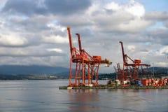 Opinião do porto Fotos de Stock Royalty Free