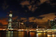 Opinião do porto de Hong Kong Imagens de Stock
