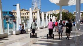 Opinião do porto de Malaga--Andaluzia-Espanha-Europa Foto de Stock