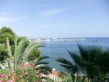 Opinião do porto de Palma de Maiorca Fotos de Stock Royalty Free