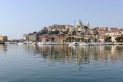 Opinião do porto, Porto Maurizio, Itália fotografia de stock