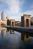Opinião do retrato das reflexões de Madrid Foto de Stock