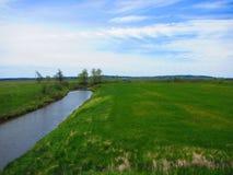 Opinião do rio, angra Novo Brunswick da serração Fotografia de Stock Royalty Free