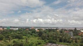 Opinião do rio com o changva chroy da árvore Fotografia de Stock Royalty Free