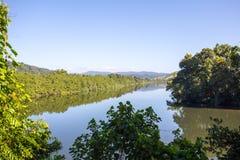 Opinião do rio de Daintree Foto de Stock Royalty Free