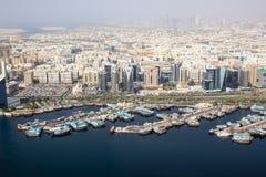 Opinião do rio de Dubai Creek, Dubai Fotos de Stock