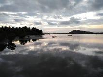 Opinião do rio de Kali na noite em timen do por do sol imagem de stock royalty free