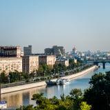 Opinião do rio de Moscou de RAS Viewpoint fotos de stock royalty free