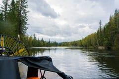 Opinião do rio de Nichka do airboat Imagem de Stock Royalty Free