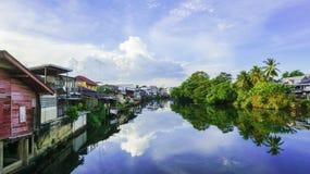 Opinião do rio em Chanthaburi Foto de Stock Royalty Free
