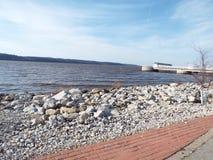 Opinião do rio Mississípi Foto de Stock