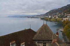 Opinião do ` s de Chillon fotografia de stock