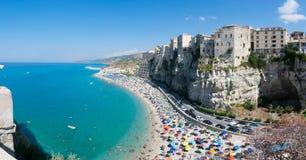 Opinião do ` s de Tropea, Itália fotografia de stock