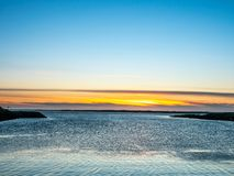 Opinião do Seascape em Borganes, Islândia foto de stock royalty free