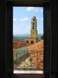 Opinião do telhado da cidade velha em Trinidad foto de stock