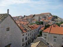 Opinião do telhado da Croácia de Dubrovnik Fotografia de Stock