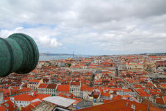 Opinião do telhado de Lisboa Fotografia de Stock Royalty Free