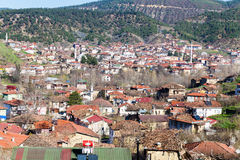 Opinião do telhado de Tarakli que é um distrito histórico no Sakarya Foto de Stock Royalty Free
