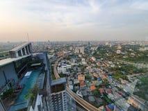 Opinião do telhado foto de stock