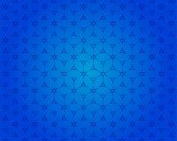 A opinião do teste padrão 3D da caixa quadrada é um fundo azul ilustração do vetor
