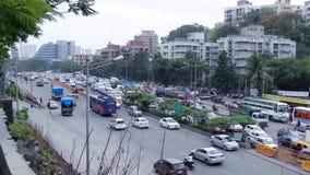 Opinião do tráfego da estrada da cidade de Mumbai video estoque