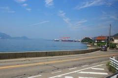 opinião do trem Seto Inland Sea fotos de stock