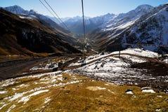 Opinião do vale da montanha Foto de Stock Royalty Free