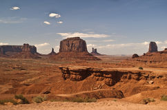 Opinião do vale do monumento fotos de stock