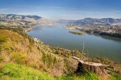 Opinião do vale e do rio de um ponto de vista Fotografia de Stock Royalty Free