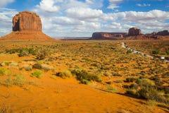 Opinião do vale do monumento Fotos de Stock Royalty Free