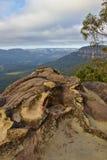 Opinião do vale perto de Wentworth Falls Imagens de Stock Royalty Free