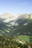 Opinião do verão da montanha alta Imagem de Stock