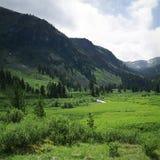 Opinião do verão da montanha alta Foto de Stock Royalty Free